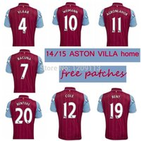 ireland - Cheap Aston Villa jerseys top thai quality soccer shirts BENTEKE WEIMANN BACUNA IRELAND SENDEROS ZOGBIA free patches