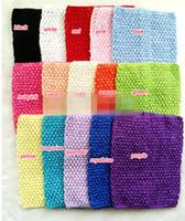 achat en gros de x fille poitrine-15 pcs 20cm X 23cm (8-9inch) Chapeau de Tutu de Crochet de Fille de T-shirt de Chapeau de Chapeau d'Elastic Headwear, POUR le dessus de Petti / le dessus de halter