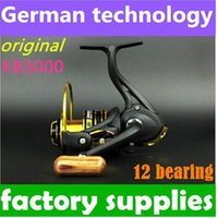 Cheap New German technology 12bb KB 3000 series spinning reel fishing reel sale for feeder fishing new top 1