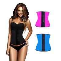 active steel - Waist Training Corset Steel Boned Latex Women Waist Cincher Corset Colors Available Slimming Shapewear Corset Tops Cincher