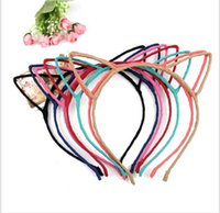plastic headbands - Fashion Cat Ears Hair Bands Jewelry baby Girls Korean cute Headbands Cheapest Hair Bands Headwear lady hair accessory party supplies
