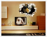 abstract interior design - Cartoon interior decoration wall stereoscopic d broken wall stickers The kindergarten children room adornment wall stickers