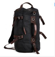 barrel bag gym - Fred Men s barrel bag shoulder oblique cross PU messenger bag for man fashionable cylinder sports gym bag
