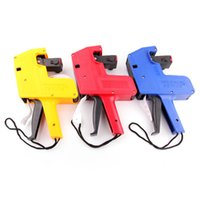 Wholesale MiiRii Plastic Cover Digits Handheld Shopping Price Labeller Tag Gun Ink Roller Red Yellow Blue