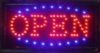 OPEN LED sign - American v electronic plug flat pin plug stock super brightly customized led light sign led open sign billboard