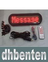 car led message display - LAI1540 led remote car message sign screen display electronic scrolling message system remote control red color