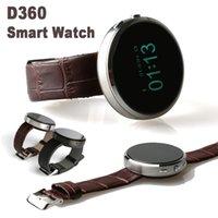 D360 Bluetooth Smart Relojes de Pulsera Smartband de Sincronización de Llamada de Teléfono Celular Podómetro Anti-perdida para Samsung HTC Huawei Android teléfono reloj de Pulsera