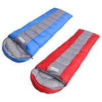 Wholesale Brand New Polyester Mummy Rectangular Sleeping Bag for Camping Hiking With Carrying Case Blue Red