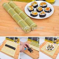 bamboo sushi board - 24 cm Sushi Rolling Roller Bamboo Material Mat Maker DIY Chinese Japanese Kitchen Hand Rolling Sushi Tools Bamboo Sushi Board