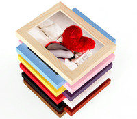 mounted photo frames - Wood photo frame set inch frame classic table and wall mounted wooden photo frame