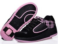 roller skate shoes - skate shoes Child heelys Jazzy Junior girls boys heelys roller skate shoes for children kids sneakers with wheels EU size