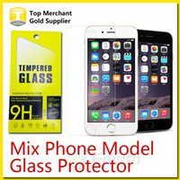 For Apple iPhone note 2 - For Galaxy S6 Note Tempered Glass Screen Protector Film Iphone s Plus mm for zenfone G530 Grand Prime Mix Model Paper Package