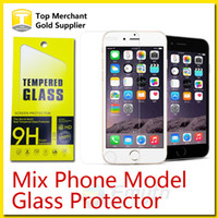 Wholesale For Galaxy S7 Grand Prime Tempered Glass Screen Protector Film Iphone s Plus ZTE Zmax pro G530 Galaxy on5 J7 G360 Mix Model in1
