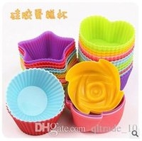 Wholesale 2000pcs CCA2011 New Hot Sale Multi Shape Silicone Muffin Cases Cake pudding mini Chocolate Cupcake Mold cup Cake baking Mould Bakeware