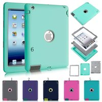 Wholesale For Apple iPad Amor Shockproof Defender Robot Heavy Duty Hard cover Case Extreme silicone cover