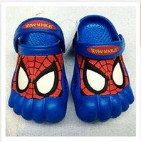 garden clogs shoes - kids shoes Batman Clog Shoes Kids Cartoon EVA Summer Garden Shoes spiderman baby sandals Shoes R0736