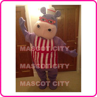 athletic kit - MASCOT CITY Anime cosply Costumes Hallie Doc Mcstuffins Mascot Costume Adult Carnival Fancy Dress Kits Hippo Mascotte Mascota SW1549