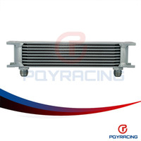 Wholesale PQY STORE British type Aluminum Universal Engine transmission oil cooler rows SILVER PQY7009S