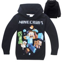 sport hoodies - 4 Y Boys Creeper Minecraft Hoodies Sweatshirts Children Long Sleeve Cartoon Cotton Hooded Coat Jacket Tops Pullover Sport wear