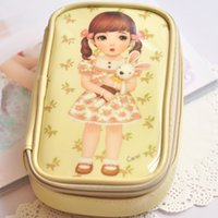 Others baby toiletries - Mini Beauty Girls Doll Baby Handbag Women Cosmetic Bags Cases Travel Package Storage Bag Toiletries Kits Bag Cosmetic Bag