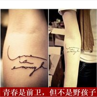 Wholesale Personalized sexy HARAJUKU enough letter waterproof tattoo stickers