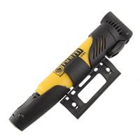 air pump bracket - Portable Foldable Bike Cycling Tire Tyre Inflator Hand Air Ball Pump Yellow Bracket Useful