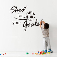beautiful football - Hot Sale Beautiful Shoot for Your lovely Goals Football Soccer Removable Decal Wall Sticker kids rooms decor Home Garnish
