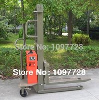 Wholesale 1000Kgs M cheap semi electric pallet stacker high enough to lift cargos to trucks and containers with one year warranty