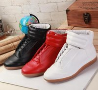 hip hop shoes - Margiela Promotion Fashion Sneakers Genuine Leather Hi Stree Hip Hop Casual Men Sports Shoes