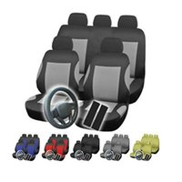 auto interior material - 12pcs set Universal Car Seat Covers Set Auto Interior Accessories Polyester Material Car Seat Cover