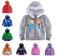 cardigan hooded - 2015 Kids Cartoon Jackets Children s Hoodies Sweatshirts Hulk Frozen Sofia Captain America Planes Avengers Baby Clothing Cardigan K5679