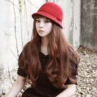 Wholesale Fashion Popular Goddess Charming Curled Hair Extension Clips Long Big Wave Hair Thicken