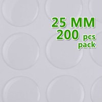 epoxy resin sticker - 25mm Round Transparent Epoxy Domes Resin Cabochon Sticker epoxy Cabochon epoxy thick about mm sold per package