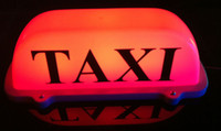 Wholesale New LED Roof Taxi Sign V with Magnetic Base red blue pink white optional
