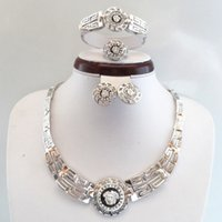 Cheap New!!High Quality Platinum Plated Vintage Style Women Costume Jewelry Set 703