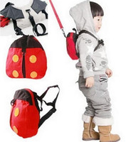 backpacks reins - Fashion Hot Harness Removable Tether Strap Baby Kids Keeper Toddler Safety Rein Ladybird Backpack Bag Small Cute Red Convenient