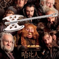 american ax - 2016 Hot Selling US Jewelry Lord Of The Rings Hobbit Gold Clap Ax Alloy Pendant Necklaces ZJ
