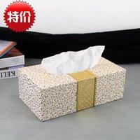 automotive leather seats - Special high grade fine Lai grain leather car tissue box tissue pumping automotive supplies napkins black box