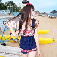 Wholesale Yu Lang Shu small chest gather new special cover was thin belly split boxer swimsuit sexy female swimsuit Spa