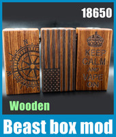18650 Wood 2 2015 Beast Box Mod Wooden Material Fit With Dual 18650 Battery 510 Thread Mech E Cigarette VS Sigelei 150w Box TZ511
