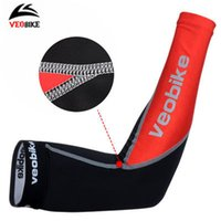 Wholesale Black Cycling Arm Cover UV Protection Arm Sleeve Breathable Sleeve Protectors Reflective VEOBIKE Cycling Cuff Cycling Warmers