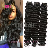 Cheap Brazilian Virgin Hair Deep Water Wave Brazilian Hair Weave Bundles Wet And Wavy Virgin Brazilian Loose Weave 3Pcs Lot Human Hair Extensions
