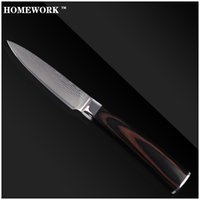 best japanese kitchen knives - Homework VG10 damascus knives kitchen knives inch paring knife layers of Japanese damascus steel cooking tools best gift