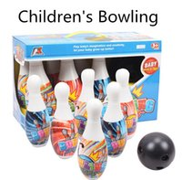 Wholesale Children s plastic color Bowling Packed educational paternity indoor and outdoor toys