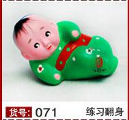 ceramic figurines - Unique Lovely Clay figurines Doll Painted sculpture Chinese Ethnic Crafts Creative Gift Home Decorative