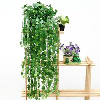 Wholesale 7 ft Green Faux Ivy Foliage Artificial Flowers Leaves Plant Vine Hanging Garland Wedding Party Home Decor G01080