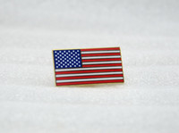 american flag lapel pin - 2016 Rushed German Cap Insignia Russian Military Uniform Square American Flag Stars And Stripes Metal Badge Brooch Lapel Pin