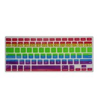 apple keyboard protecter - New Colorful Rainbow Silicone Keyboard Protecter Skin Cover Case For Apple MacBook Air