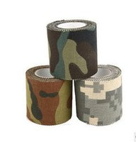 Acheter Jeux jungle-Hot Sale 5M Camera Gun Camouflage TapeS Stretchable Army War Jeu Survival Jungle Aventure Wrap Hunting Tapes Télescope Rifle Stickers