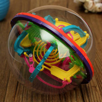Wholesale 3D Magic Intellect Maze Ball Kids Children Puzzle Game Educations IQ Ability Practical Trainer